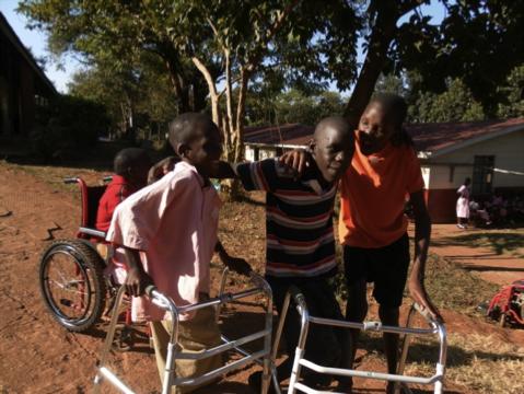 children in wheelchairs